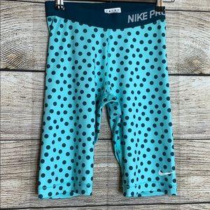 Nike Pro Small polka dot Compression shorts